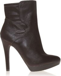 Nine West - Brown Izzabel Leather Ankle Boots - Lyst