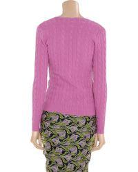 Ralph Lauren Black Label - Pink V-neck Cashmere Sweater - Lyst