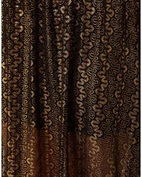 River Island Black Chelsea Girl Metallic Lace Maxi Skirt