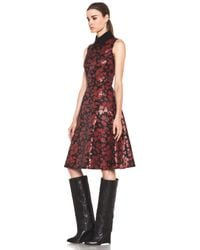 Rodarte   Embroidered Tulle Dress in Red Black Floral   Lyst
