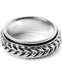 Seven London | Metallic Flowing Weave Rotating Ring | Lyst