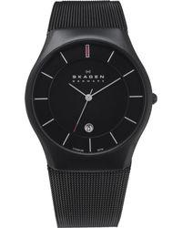 Skagen Black 956xltbb Carboncoated Stainless Steel Watch for men