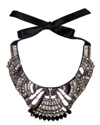 Temperley London | Black Deco Mirror Necklace | Lyst