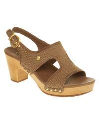 UGG Brown Lomita Heeled Sandal