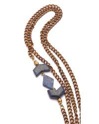 Vanessa Mooney - Metallic Mesa Double Wrap Necklace - Lyst