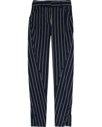 Vivienne Westwood Anglomania | Blue Twisted Striped Cotton-blend Pants | Lyst