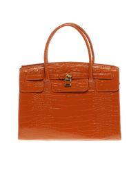 ALDO Orange Croc Embossed Bag