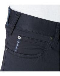 Armani Jeans Blue Gabardine Trousers for men