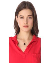 Ginette NY Black Moon Onyx Necklace
