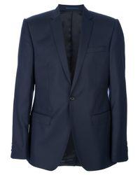 Mr Start   Blue Textured Wool Suit for Men   Lyst