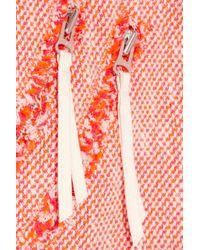 Rebecca Taylor Orange Neon Tweed Jacket