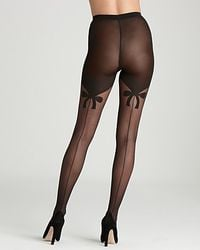 Wolford Black Secret Bows Tights