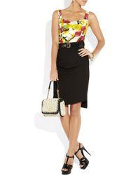 Dolce & Gabbana White Crystaltrimmed Crocheted Raffia Shoulder Bag