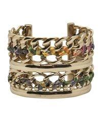 Gas Bijoux | Metallic Cuff Ribbon Bracelet | Lyst