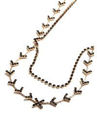 BaubleBar - Metallic Chevron Arrowhead Necklace - Lyst