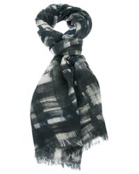 Contileoni - Gray Patterned Scarf - Lyst