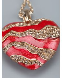 Roberto Cavalli Red Heart Necklace