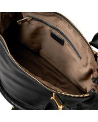 Chloé Black The Marcie Large Textured-Leather Tote