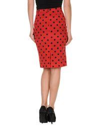 Dolce & Gabbana | Red Knee Length Skirt | Lyst