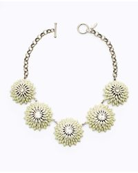Ann Taylor - Metallic Lotus Statement Necklace - Lyst