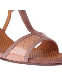 Chie Mihara Natural Anamari Mocksnake Wedge Sandals
