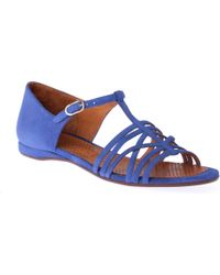 Chie Mihara Blue Gipsy Suede Sandals