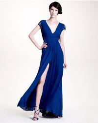 Elie Saab | Blue Lacesleeve Gown | Lyst