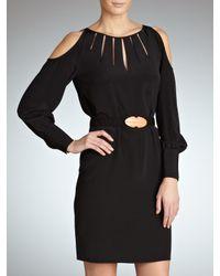 INTROPIA Hoss Intropia Long Sleeve Shoulderless Dress Black