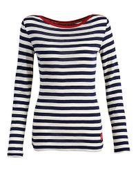 Joules Blue Joules Christen Stripe Long Sleeve Top Navy Stripe