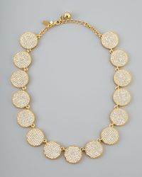 kate spade new york | Metallic Bright Spot Crystal Collar Necklace | Lyst
