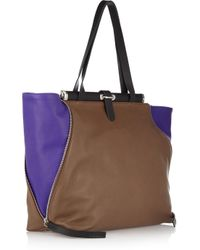 Marni | Brown Two-tone Leather Shoulder Bag | Lyst