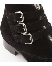 Tabitha Simmons Black Early Suede Ankle Boots