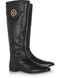 Tory Burch Black Selma Riding Boot