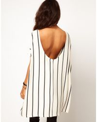 ASOS Collection Natural Asos Oversized Tshirt with Vertical Stripe
