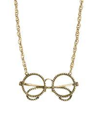 ASOS | Metallic Glasses Pendant Necklace | Lyst