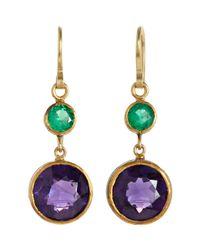 Judy Geib | Purple Colombian Emerald Amethyst Earrings | Lyst