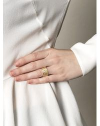 Lara Melchior Metallic Bague Vi Diamond and Gold Ring
