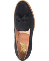 Mark McNairy New Amsterdam Black Tassel Suede Apron Loafers for men