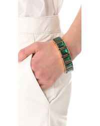 Michael Kors - Green Emerald Crystal Bracelet - Lyst