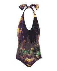Olga Olsson | Purple Ayesha Printed Swimsuit | Lyst