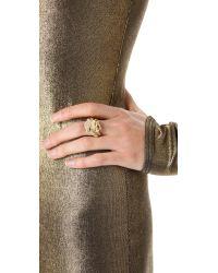 Rachel Zoe Metallic Love Me Knot Ring