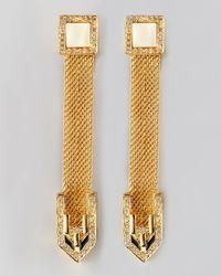 Rachel Zoe | Metallic Snake Chain Drop Earrings | Lyst