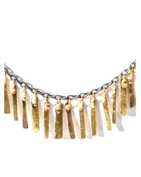 Sia Taylor Metallic Silver and Gold Fringe Necklace