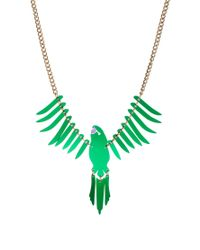 Tatty Devine | Small Parakeet Green Necklace | Lyst