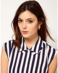 Tatty Devine - Metallic Pegasus Earrings - Lyst