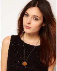 Tatty Devine Orange Fox Necklace - For Women