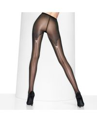Wolford Black Cherie Tights