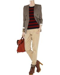 Burberry Brit - Natural Tapered Cotton-twill Pants - Lyst
