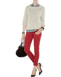 Burberry Brit - Red Mid-Rise Skinny Jeans - Lyst