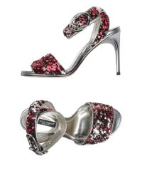 Dolce & Gabbana | Red High-heeled Sandals | Lyst